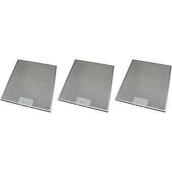 3 x Universal Cooker Hood Metal Grease Filter 295mm x 356mm