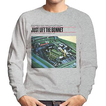 Austin Healey Just Lift The Bonnet British Motor Heritage Men's Sweatshirt