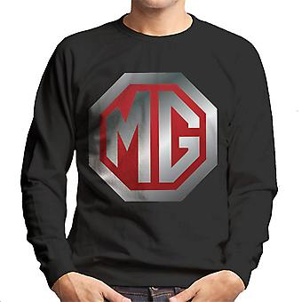 MG Shiny Red en Chrome Logo British Motor Heritage Men's Sweatshirt