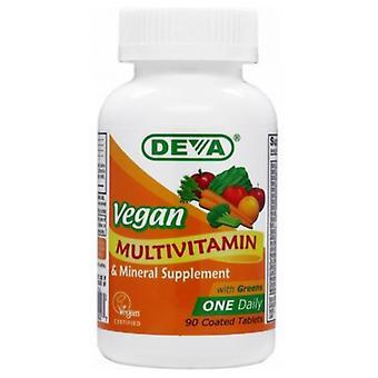 Deva Vegan Vitamins Vegan, Multivitamin Iron Free, 90 Tab