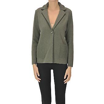 Anneclaire Ezgl112033 Women's Green Wool Cardigan