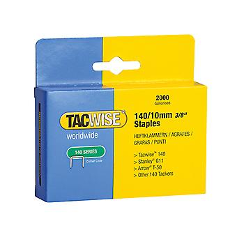 Tacwise 140 Heavy-Duty Staples 10mm (Type T50, G) Pack 2000 TAC0347