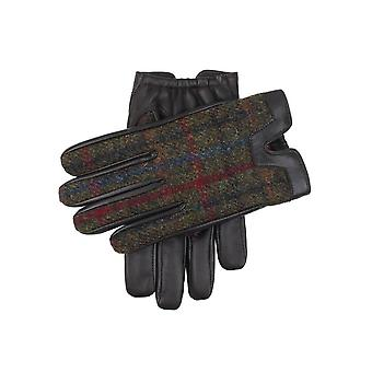 Men's Cashmere Lined Harris Tweed e Hairsheep Leather Gloves