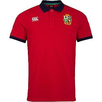 كانتربري البريطانية والأيرلندية الأسود 2021 الوطن الأمم الرجال بولو قميص أحمر