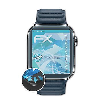 atFoliX 3x Protective Film compatível com Apple Watch série 44 mm Série 6 claro e flexível