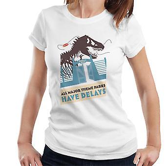 Jurassic Park T Rex alle großen Themenparks haben Verzögerungen Frauen's T-Shirt