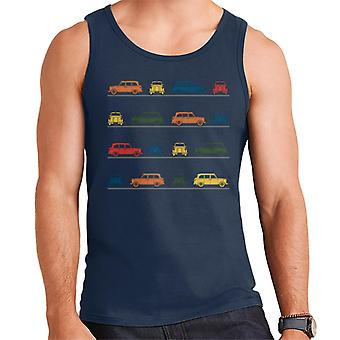 London Taxi Company TX4 Angled Colourful Montage Men's Vest