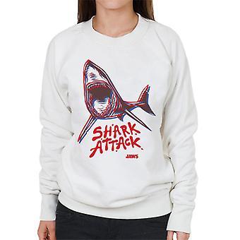 Kjever Neon Shark Attack Kvinner's Sweatshirt