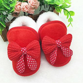 Bow-knot Fur Ankle Length Winter Warm Snow Newborn Infant Baby Boots