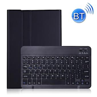A870 For Samsung Galaxy Tab S7 T870/T875 11 inch Detachable Bluetooth Keyboard Ultrathin Horizontal Flip Leather Case with Holder & Elastic Band(Black