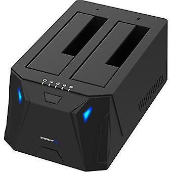 Sabrent usb 3.0 to sata i/ii/iii dual bay external hard drive docking station for 2.5 or 3.5in hdd,