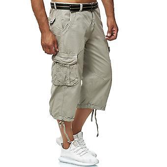 Men's Cargo Shorts Bermuda Bottoms 3/4 Cotton Trousers Casual Outdoor Pants