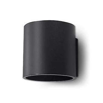 Orbis sort aluminium væg lys 1 pære