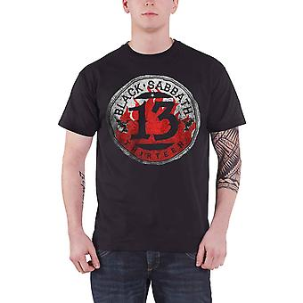 Black Sabbath T Shirt 13 Flame Circle band logo Official Mens New Black