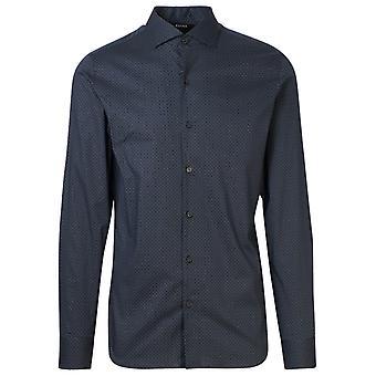 Z Zegna 805280zcso180 Men's Blue Cotton Shirt