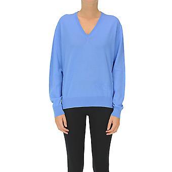 N°21 Ezgl068251 Women's Light Blue Wool Sweater