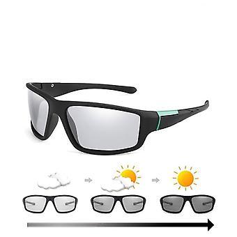 Photochromic Sunglasses Matte Black Sports Goggles/women