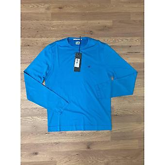 CP Företag Mako Bomull Långärmad T-shirt - Blå