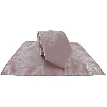 Michelsons von London zarte Blumen Hochzeit Krawatte und Tasche Platz Set - staubige rosa