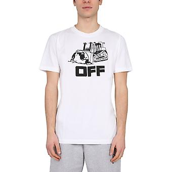 Off-white Omaa027r21jer0130110 Mænd's White Cotton T-shirt