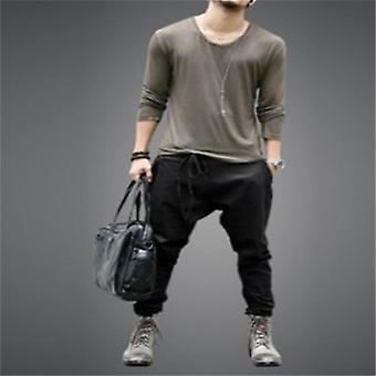 European And American Trendy Young Men's Pants, Leggings, Lace Up Loose Casual