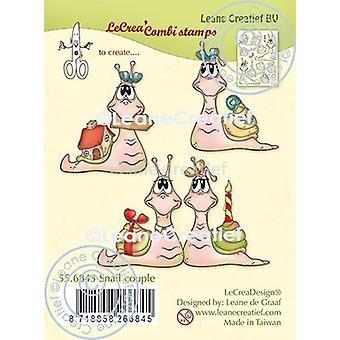 Leane Creatief Sneglepar klare frimærker