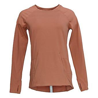 zuda Women's Sweater (XXS) Long Sleeve Sweatshirt Pink A371977