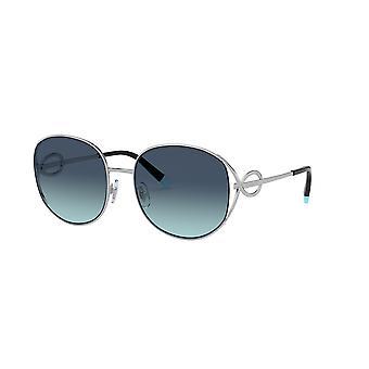 Tiffany TF3065 60479S Silver/Azure Blue Gradient Sunglasses