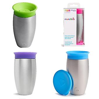 Munchkin miracle 360 stainless steel sippy cup 296ml all 4 supplied