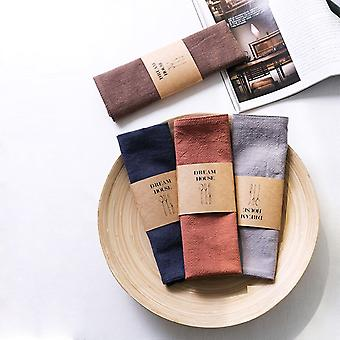 Japanese Style Napkin Linen Cloth Placemat 30x45cm Table Napkins Kitchen Tableware Towel Kitchen Accessories