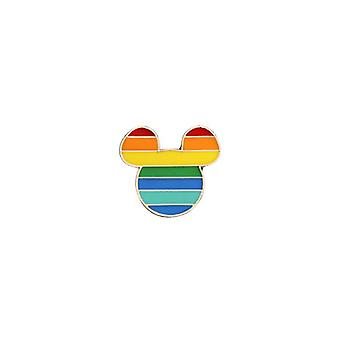 Rainbow Creative Heart Yeh Finger Pin Broche broches badge