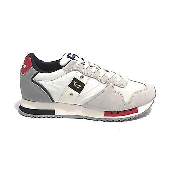 Blauer Sneaker Running Queens In Suede/ White Fabric/ Red Navy Us21bu02