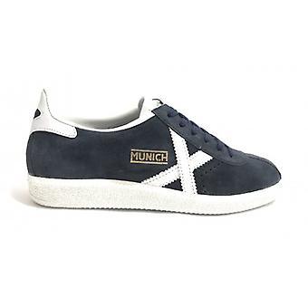 Shoes Unisex Munich Sneaker Barru Navy Blue/ White Background White Suede U18mu14