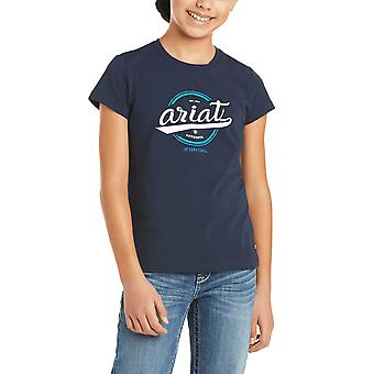 Ariat Authentic Logo Youth Short Sleeved T-shirt - Navy Blue