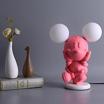Lámpara de mesa de ratón de dibujos animados diseñador nordic sala de estar niños's princesa habitación lámpara de noche red rojo lindo atenuante luz nocturna