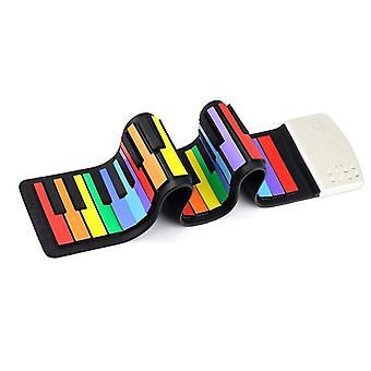 49 Tasten Silikon, tragbar, bunte weiche Tastatur - elektronische Roll Up Piano