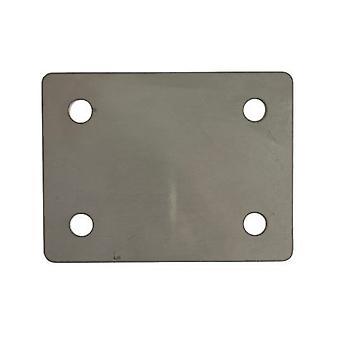 Fotplatta - 50 X 66 X 3 Mm - T316 (a4) Rostfritt stål av marin kvalitet