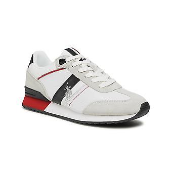 Shoes U.S. Polo Sneaker Running Austen 2 Suede/ Mesh White Men's Us21up22
