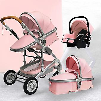 Luxurious Baby Stroller Portable Travel Baby Carriage Folding Prams Aluminum