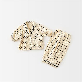 Korean Style Spring Baby Pajama Set, Fashion Cute Infant Sleeper Baby Clothes