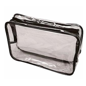 Sibel Beauty Express Black Trim Transparent Bag
