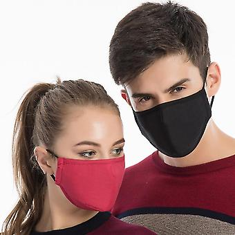 Puuvillainen suunaamio, Naiset, Uudelleenkäytettävä, Pestävä, Ripsivärit Face Shield, Miehet