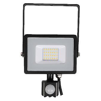 V-tac VT-20-S-Z foco LED con sensor - 20 W - 1600 Lm - 4000K - negro