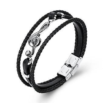 Unique Punk Stainless Steel Musical Notes Bracelet