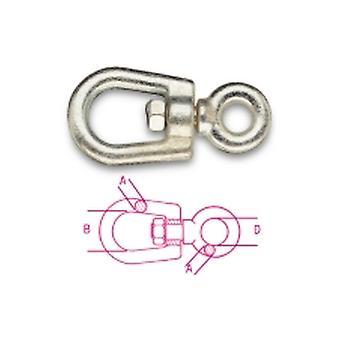 Beta 081140020 M22x306 Eye And Eye Swivels Italian Marche Type Carbon Steel