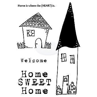 Polkadoodles Klar Stempel - Hjem Sweet Home A6
