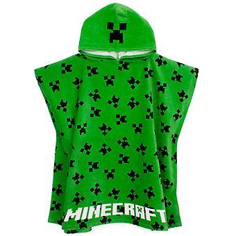 Minecraft Handdoek Poncho Voor Jongens | Kinderen one size creeper gezicht hooded badhanddoek gewaad | Gamer Beach Swim Cover Up voor kinderen