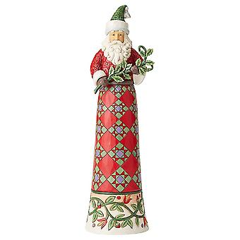 Jim Shore Heartwood Creek Making Spirits Splendid Tall Santa With Branch Figurine