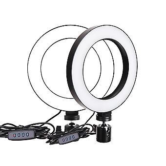 حلقة ملء ضوء أدى ثلاثة ألوان 16cm مصباح مؤقت ذاتي مصباح التصوير الفوتوغرافي مصباح