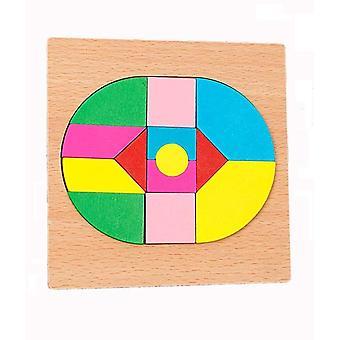 Pedagogisk toy domstol mosaik pusselspel